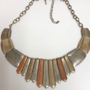 Lane Bryant Modern Triple Tone Statement  Necklace